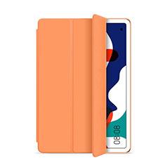 Huawei MatePad 5G 10.4用手帳型 レザーケース スタンド カバー L03 ファーウェイ オレンジ