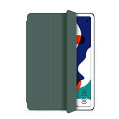 Huawei MatePad 5G 10.4用手帳型 レザーケース スタンド カバー L03 ファーウェイ グリーン