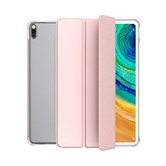 Huawei MatePad 5G 10.4用手帳型 レザーケース スタンド カバー L04 ファーウェイ ピンク
