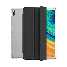 Huawei MatePad 5G 10.4用手帳型 レザーケース スタンド カバー L04 ファーウェイ ブラック
