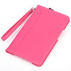 Huawei MatePad 5G 10.4用手帳型 レザーケース スタンド カバー L05 ファーウェイ ローズレッド