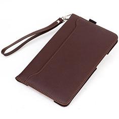 Huawei MatePad 5G 10.4用手帳型 レザーケース スタンド カバー L05 ファーウェイ ブラウン