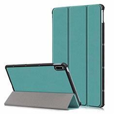 Huawei MatePad 5G 10.4用手帳型 レザーケース スタンド カバー L06 ファーウェイ グリーン