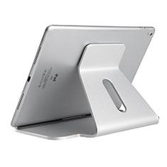 Huawei MatePad 5G 10.4用スタンドタイプのタブレット クリップ式 フレキシブル仕様 K21 ファーウェイ シルバー