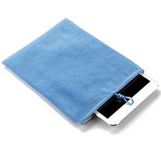 Huawei MatePad 5G 10.4用ソフトベルベットポーチバッグ ケース ファーウェイ ブルー