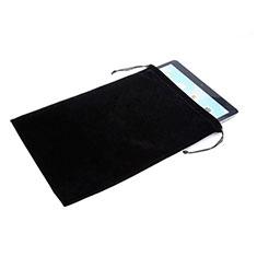 Huawei MatePad 5G 10.4用高品質ソフトベルベットポーチバッグ ケース ファーウェイ ブラック