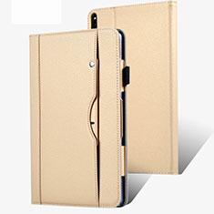 Huawei MatePad Pro 5G 10.8用手帳型 レザーケース スタンド カバー ファーウェイ ゴールド