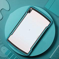 Huawei MatePad Pro 5G 10.8用ハイブリットバンパーケース クリア透明 プラスチック 鏡面 カバー ファーウェイ シアン