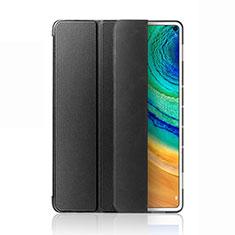 Huawei MatePad Pro 5G 10.8用手帳型 レザーケース スタンド カバー L03 ファーウェイ ブラック