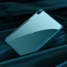 Huawei MatePad Pro 5G 10.8用ハイブリットバンパーケース クリア透明 プラスチック 鏡面 カバー M01 ファーウェイ シアン