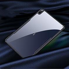 Huawei MatePad Pro 5G 10.8用ハイブリットバンパーケース クリア透明 プラスチック 鏡面 カバー M01 ファーウェイ ブラック