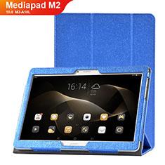 Huawei MediaPad M2 10.0 M2-A10L用手帳型 レザーケース スタンド カバー L01 ファーウェイ ネイビー