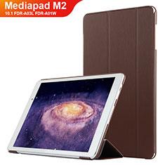Huawei MediaPad M2 10.1 FDR-A03L FDR-A01W用手帳型 レザーケース スタンド L02 ファーウェイ ブラウン