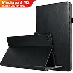 Huawei MediaPad M2 10.1 FDR-A03L FDR-A01W用手帳型 レザーケース スタンド L03 ファーウェイ ブラック