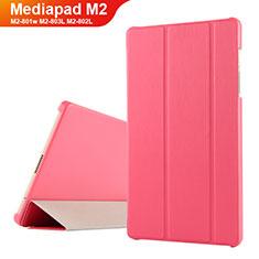 Huawei Mediapad M2 8 M2-801w M2-803L M2-802L用手帳型 レザーケース スタンド ファーウェイ レッド