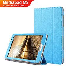 Huawei Mediapad M2 8 M2-801w M2-803L M2-802L用手帳型 レザーケース スタンド L01 ファーウェイ ネイビー