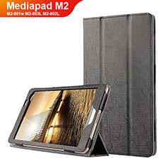 Huawei Mediapad M2 8 M2-801w M2-803L M2-802L用手帳型 レザーケース スタンド L01 ファーウェイ ブラック