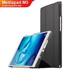 Huawei Mediapad M3 8.4 BTV-DL09 BTV-W09用手帳型 レザーケース スタンド ファーウェイ ブラック