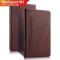 Huawei Mediapad M3 8.4 BTV-DL09 BTV-W09用手帳型 レザーケース スタンド L02 ファーウェイ ブラウン