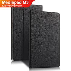 Huawei Mediapad M3 8.4 BTV-DL09 BTV-W09用手帳型 レザーケース スタンド L02 ファーウェイ ブラック