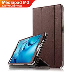 Huawei Mediapad M3 8.4 BTV-DL09 BTV-W09用手帳型 レザーケース スタンド L03 ファーウェイ ブラウン