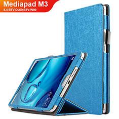 Huawei Mediapad M3 8.4 BTV-DL09 BTV-W09用手帳型 レザーケース スタンド L04 ファーウェイ ネイビー