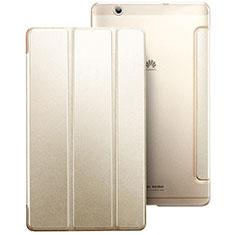 Huawei MediaPad M3用手帳型 レザーケース スタンド ファーウェイ ゴールド
