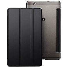 Huawei MediaPad M3用手帳型 レザーケース スタンド ファーウェイ ブラック