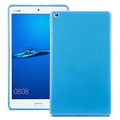 Huawei MediaPad M3用シリコンケース ソフトタッチラバー ファーウェイ ネイビー