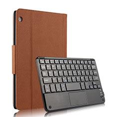 Huawei MediaPad M3 Lite 10.1 BAH-W09用手帳型 レザーケース スタンド アンド キーボード ファーウェイ ブラウン