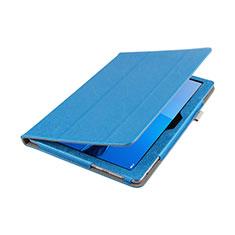 Huawei MediaPad M3 Lite 10.1 BAH-W09用手帳型 レザーケース スタンド L01 ファーウェイ ネイビー