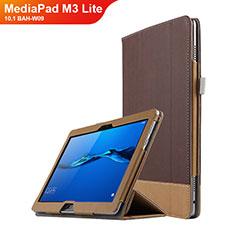 Huawei MediaPad M3 Lite 10.1 BAH-W09用手帳型 レザーケース スタンド L02 ファーウェイ ブラウン