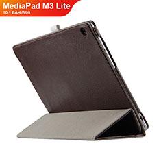 Huawei MediaPad M3 Lite 10.1 BAH-W09用手帳型 レザーケース スタンド L03 ファーウェイ ブラウン