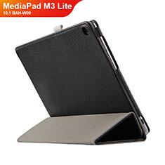 Huawei MediaPad M3 Lite 10.1 BAH-W09用手帳型 レザーケース スタンド L03 ファーウェイ ブラック
