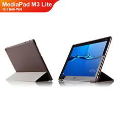 Huawei MediaPad M3 Lite 10.1 BAH-W09用手帳型 レザーケース スタンド L04 ファーウェイ ブラウン