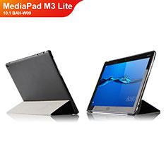 Huawei MediaPad M3 Lite 10.1 BAH-W09用手帳型 レザーケース スタンド L04 ファーウェイ ブラック