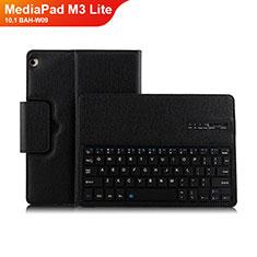 Huawei MediaPad M3 Lite 10.1 BAH-W09用手帳型 レザーケース スタンド アンド キーボード L01 ファーウェイ ブラック
