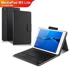 Huawei MediaPad M3 Lite 10.1 BAH-W09用手帳型 レザーケース スタンド アンド キーボード L02 ファーウェイ ブラック