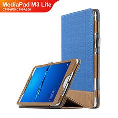 Huawei MediaPad M3 Lite 8.0 CPN-W09 CPN-AL00用手帳型 レザーケース スタンド L01 ファーウェイ ネイビー