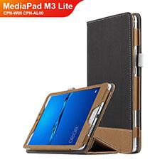 Huawei MediaPad M3 Lite 8.0 CPN-W09 CPN-AL00用手帳型 レザーケース スタンド L01 ファーウェイ ブラック