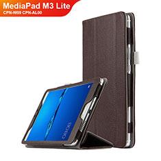 Huawei MediaPad M3 Lite 8.0 CPN-W09 CPN-AL00用手帳型 レザーケース スタンド L02 ファーウェイ ブラウン