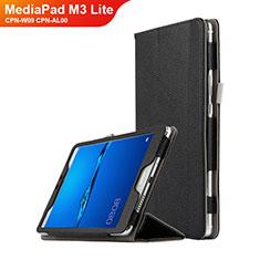 Huawei MediaPad M3 Lite 8.0 CPN-W09 CPN-AL00用手帳型 レザーケース スタンド L02 ファーウェイ ブラック