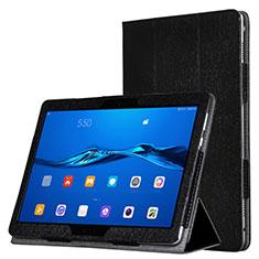 Huawei MediaPad M3 Lite用手帳型 レザーケース スタンド ファーウェイ ブラック