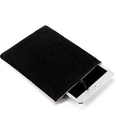 Huawei MediaPad M3 Lite用ソフトベルベットポーチバッグ ケース ファーウェイ ブラック