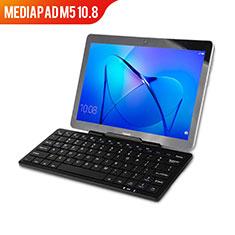 Huawei MediaPad M5 10.8用手帳型 レザーケース スタンド アンド キーボード L01 ファーウェイ ブラック