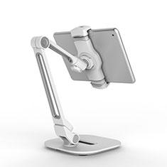 Huawei MediaPad M5 10.8用スタンドタイプのタブレット クリップ式 フレキシブル仕様 T44 ファーウェイ シルバー