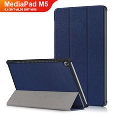 Huawei MediaPad M5 8.4 SHT-AL09 SHT-W09用手帳型 レザーケース スタンド L03 ファーウェイ ネイビー