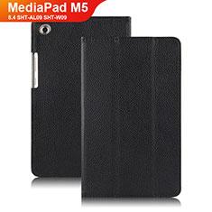 Huawei MediaPad M5 8.4 SHT-AL09 SHT-W09用手帳型 レザーケース スタンド ファーウェイ ブラック