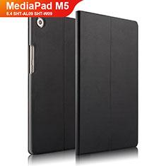 Huawei MediaPad M5 8.4 SHT-AL09 SHT-W09用手帳型 レザーケース スタンド L01 ファーウェイ ブラック