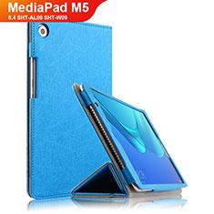Huawei MediaPad M5 8.4 SHT-AL09 SHT-W09用手帳型 レザーケース スタンド L02 ファーウェイ ネイビー